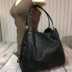COACH PHOEBE Large Leather Triple Entry Hobo 26224